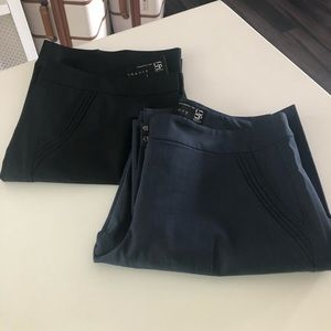 Bundle - 2 pair Theory Black & Navy Trouser sz 8